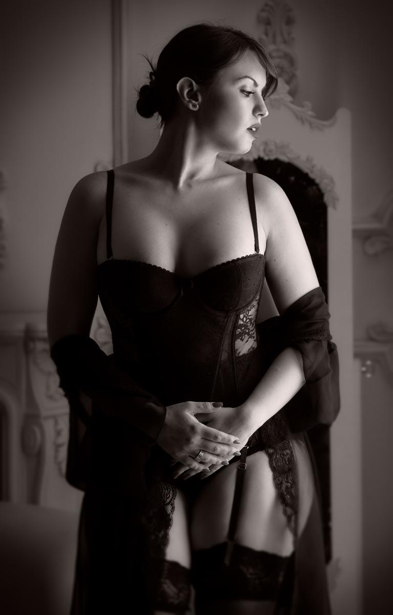 fotografía belleza femenina en lenceria sensual boudoir Madrid
