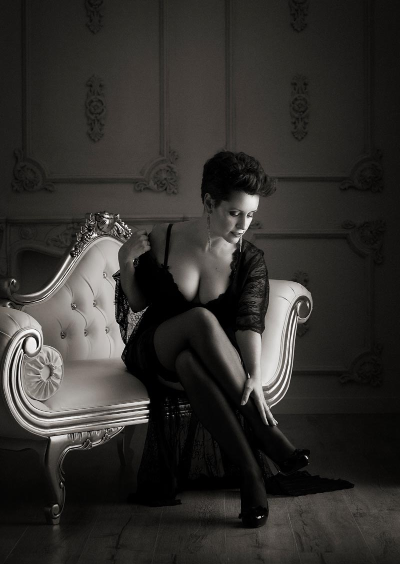 sesión de fotos elegantes y sensuales en Madrid
