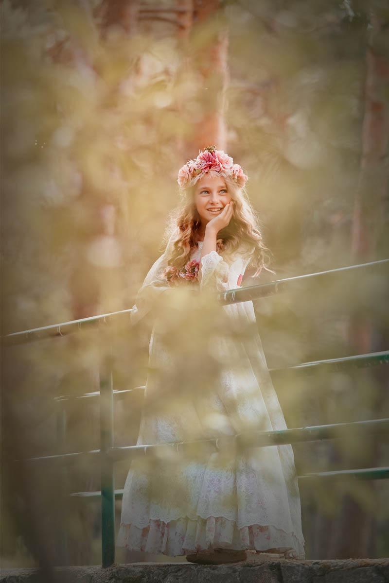 fotografias diferentes en exteriores niña romantica