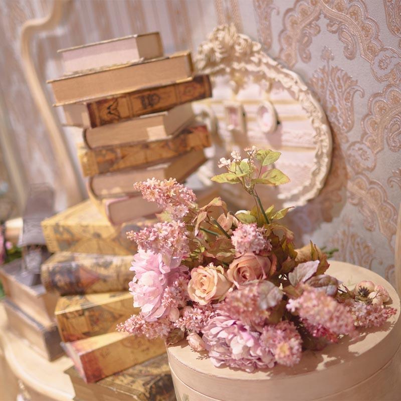 Detalles de decoración exclusiva en estudios de fotografía