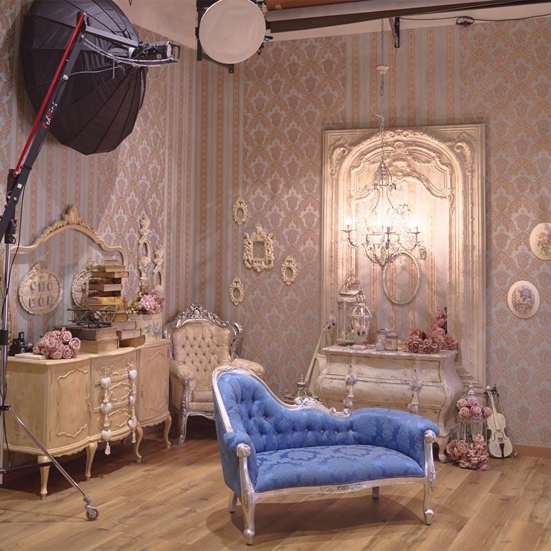 Estudio de fotografía con decorados exclusivos en Madrid