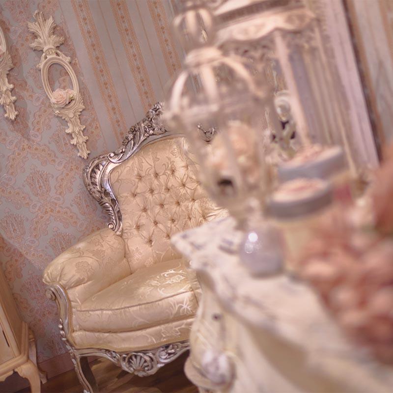 Sillón Luis XV en estudio de fotos en Madrid