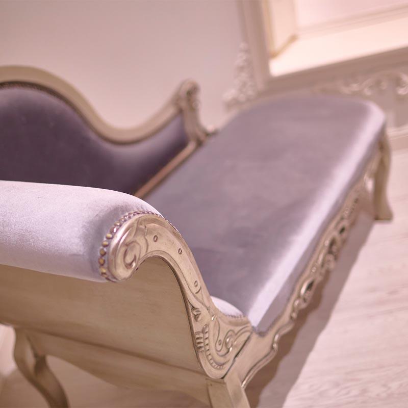 detalles de sofá para fotos boudoir